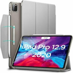 """ESR Yippee Trifold Smart Case Cover for iPad Pro 12.9"""" 2018 and 2020 Grey"""