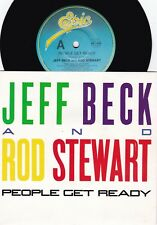 Jeff Beck & Rod Stewart Orig Oz Ps 45 People get ready Vg+ Epic Pop Rock