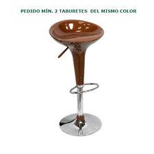 Taburete Iris, ABS reciclado, marrón, base cromada, giratorio, regulable altura