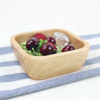 1Pc Square Wood Bowl Salad Bowl Wooden Plate Snack Dessert Serving Dishes