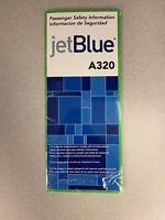 Jetblue A320 Old Style Safety Card