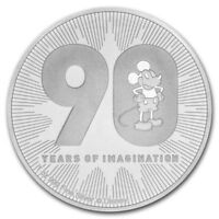 NIUE 2 Dollars Argent 1 once 90 Ans de Mickey 2018