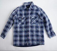 Vintage COUNTRY TOUCH Men's L Large Blue Quilted Insulated Flannel Shirt Jacket