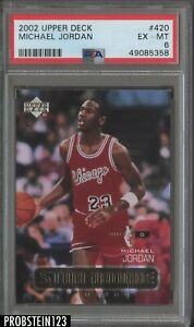 2002-03 Upper Deck UD #420 Michael Jordan Chicago Bulls HOF PSA 6 EX-MT