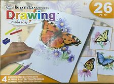 Royal and Langnickel Drawing Made Easy 4 Butterfly Projects Set
