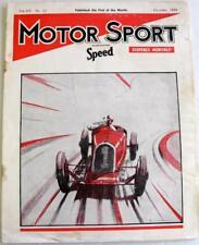 MOTOR SPORT/ Speed Magazine Vol 15 No 12 Dec 1939 HRG Tested