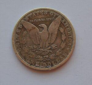 1884 USA Morgan Dollar $1 Silver Coin