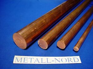 Kupfer Rundmaterial Ø5 -40mm E-Cu ETP Halbzeug Material Stab Stange Scheibe Cu