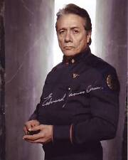 EDWARD JAMES OLMOS Signed BATTLESTAR GALACTICA Photo w/ Hologram COA