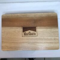 MARLBORO POKER CHIP and CARD SET  in WOOD CASE