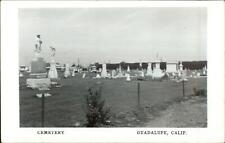 Guadalupe CA Cemetery Real Photo Postcard