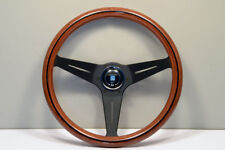 NARDI DEEP CORN 350MM WOOD BLACK SPOKE STEERING WHEEL - 5069.35.2000