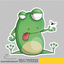 Carino Divertente Frog Cartoon ANNOIATO CATTURA Adesivo Vinile Decalcomania Finestra Auto Van Bici 2240