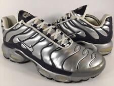 Nike Air Max Plus Extra Metallic Silver Obsidian Black Size 11.5 Rare 302746-011