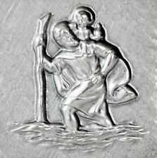 Christophorus Schutzpatron 2,8 cm Plakette Diamantprägung Relief Christopherus