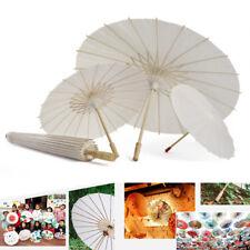 Oil-paper White Umbrella China Traditional Dance Props Parasols Hand Made Decor