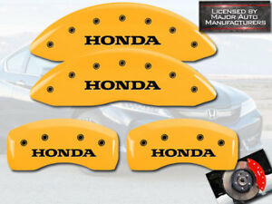 "2011-2017 ""Honda"" Odyssey Front + Rear Yellow MGP Brake Disc Caliper Covers 4pc"