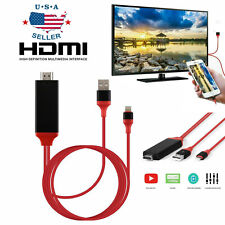 1080 HDMI Phone to TV Cable Adapter Converter Fit For iPhone X/XS/7/8 Plus/iPad