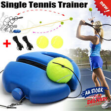 Single Solo Tennis Trainer Training Practice Rebound Balls Back Base Tool Set AU