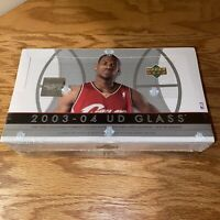 🏀SEALED 2003-04 UD Glass Hobby Box 🔥Lebron Rookie RC ❓PSA10❓NBA Finals Lakers