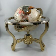 world globe on stand made by pearl stone