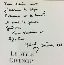 1998 ENVOI dédicace  LE STYLE GIVENCHY (SIGNED) fashion MODE Excellent état
