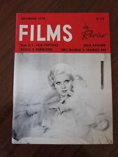 Films in review 12/78 Jean Harlow Joel McRea NY film festival