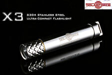 Solarforce X3 Cree XP-E R4 LED Stainless Steel AAA Ultra Compact Flashlight