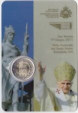 2  EURO  S. Marino  2011  FDC  in  blister  ( visita papa )