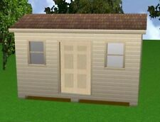 10x16 Storage Shed Plans Package, Blueprints, Material List & Instructions