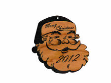 Personalized Santa Wooden Christmas Ornament (FREE SHIPPING)