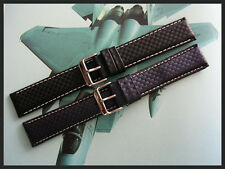 18mm XL Black Carbon Fiber Sport GT racing watchband strap IW SUISSE 19 20 22 24