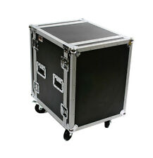"""OSP 14 Space ATA Amp Rack Road Case 20"""" Deep with 4"""" Caster Wheels Pro"""