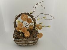 Wreath Door Basket With Dried Fowers