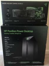 NEW HP Pavilion Power 580-023w Gaming Tower + Razer 4-Piece Gaming Bundle
