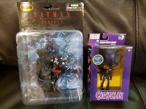 Lot Of 2 Harley Quinn Mini Figures Series 1, Catwoman Super Hero Dolls