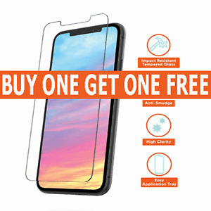 Tempered Glass Screen Protector For iPhone 12 ,11 Pro Max iPhone XR X XS Max