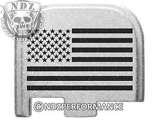 for Glock 43 ONLY Rear Slide Cover Plate 9mm G43 Silver US Flag