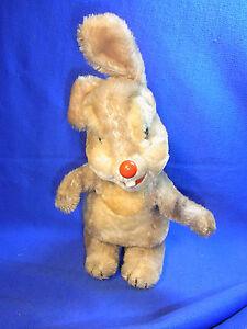 Vintage German Stuffed Animal Schuco Bigo Bello Rabbit Klopfer Thumper #Y