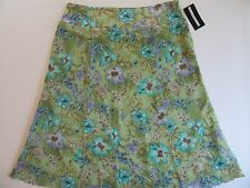 NWT Requirements Ladies Skirt 18 Lightweight Lined Flared Floral Swing Skirt $44