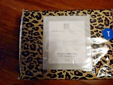 Concierge Collection Platinum 1500 Thread Count 3-piece Sheet Set TWIN ~ LEOPARD