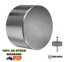 1x Powerful 60mm x 30mm N33 Disc Magnet | Neodymium Rare Earth Industrial Model
