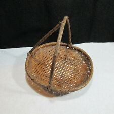 Very Unique Berry Picking Tray Shallow Basket Found in Old Idaho Mountain Cabin