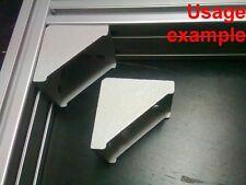 Aluminum T-slot 3060/6060 profile 90 deg corner bracket 60x60-8mm, 4-set