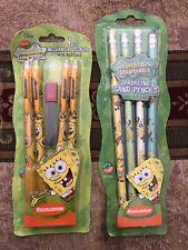 SpongeBob SquarePants Vintage Sparkling Sand & Mechanical Pencils Extra Lead New