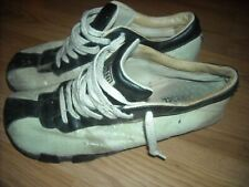 DIESEL WOMENS 10 US EVELYN WHITE BLACK LEATHER SNEAKER SHOES