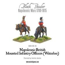Black Powder Napoleonic British Mounted Infantry Officers Waterloo Warlord Games