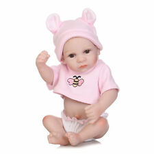 Reborn Preemie Doll Lifelike Miniature Full Body Silicone Girl Baby Doll Toy 10""