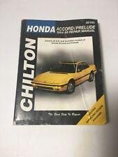Repair Manual Chilton 31050 Honda Accord Prelude 1984 - 1995