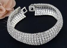 Gold Silver Wedding Crystal Bracelet Swarovski Elements Bangle Party TENNIS